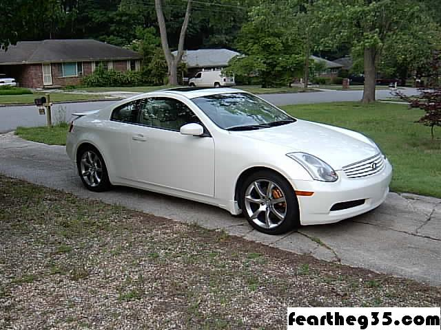 Infiniti G Coupe white #1
