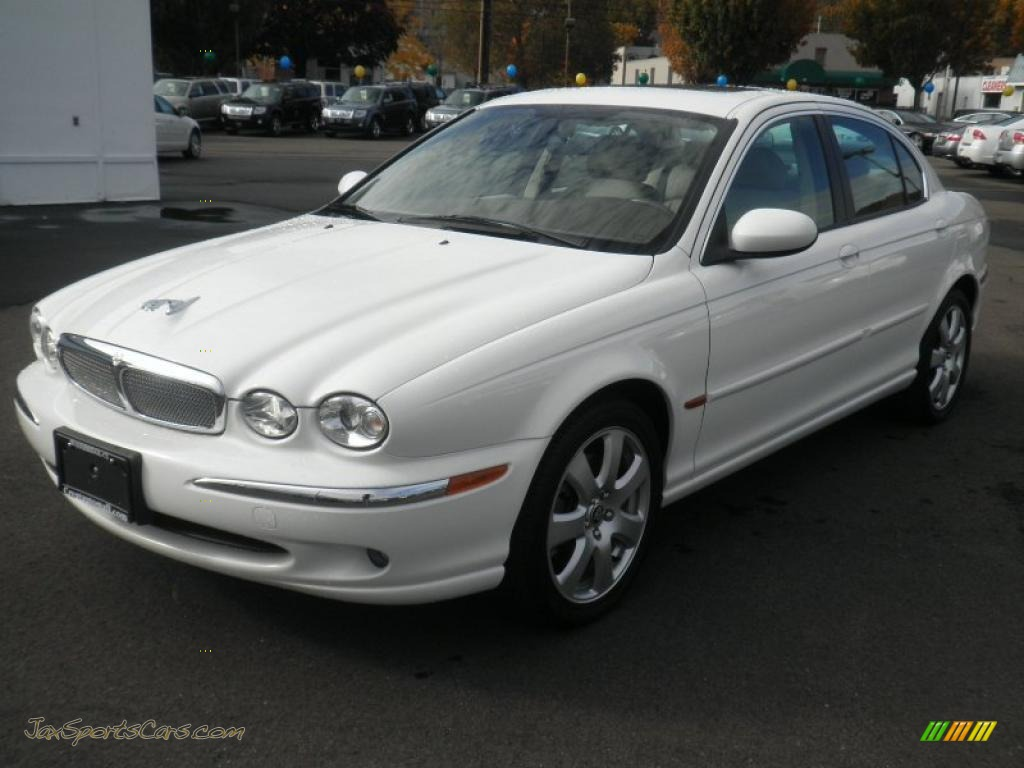 Jaguar X-Type white #4