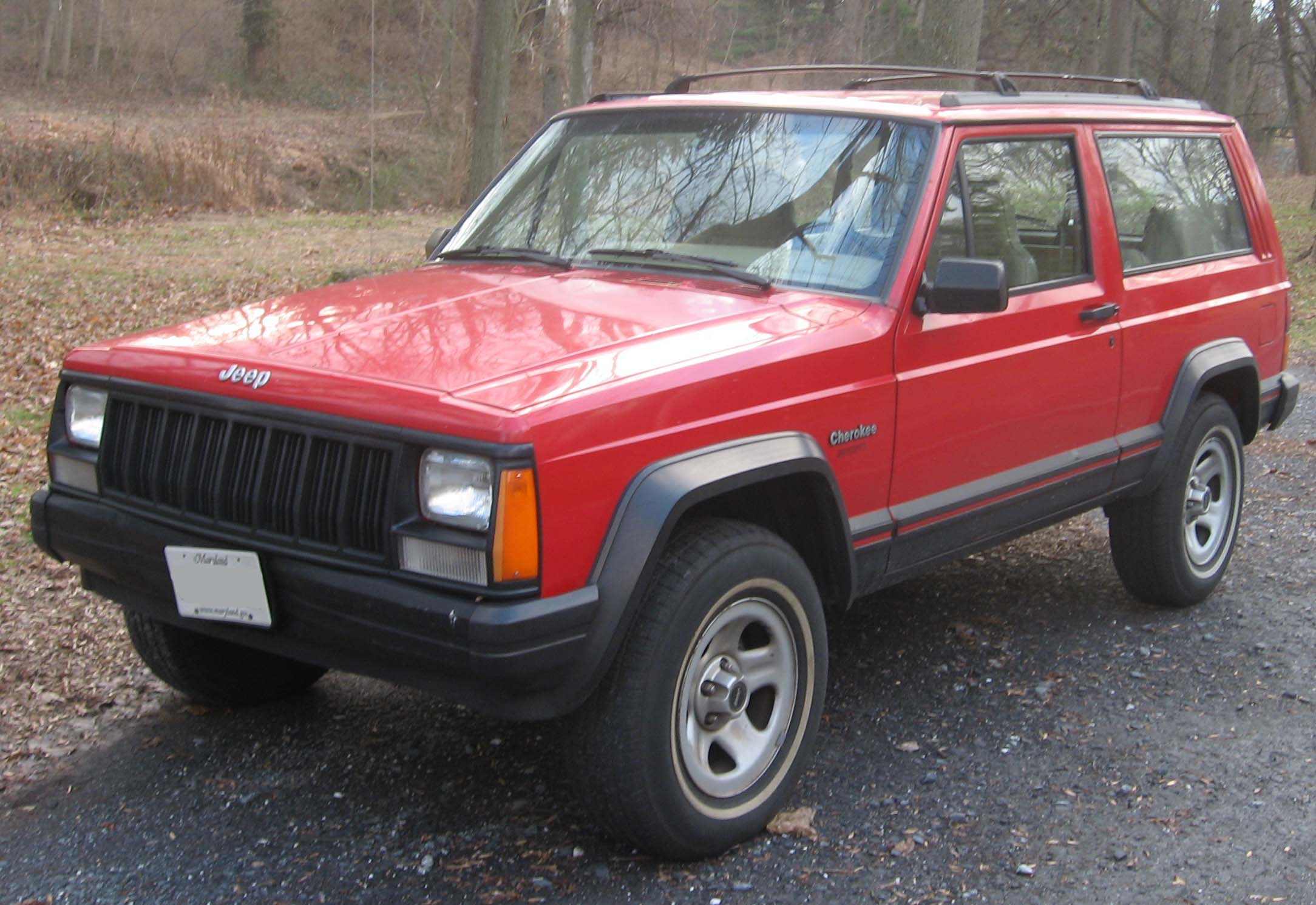 Jeep Cherokee red #4