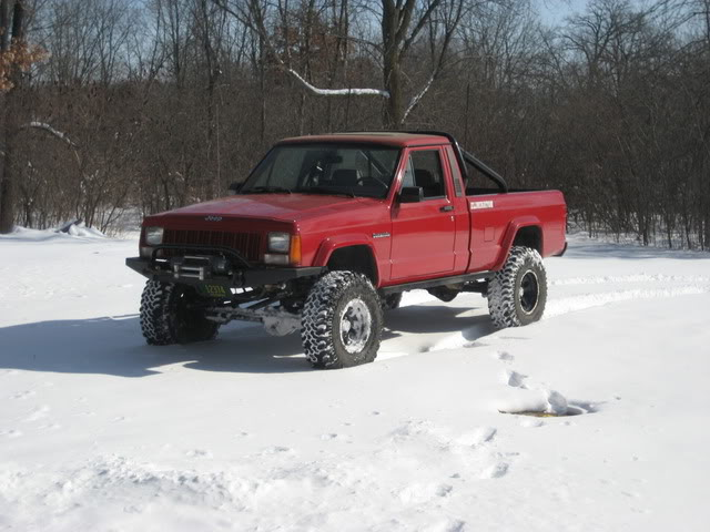 Jeep Comanche red #4