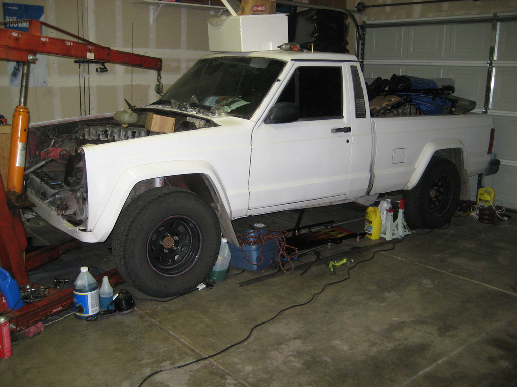 Jeep Comanche white #2