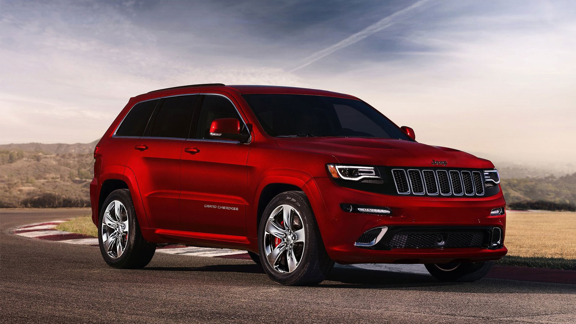 Jeep Grand Cherokee red #2