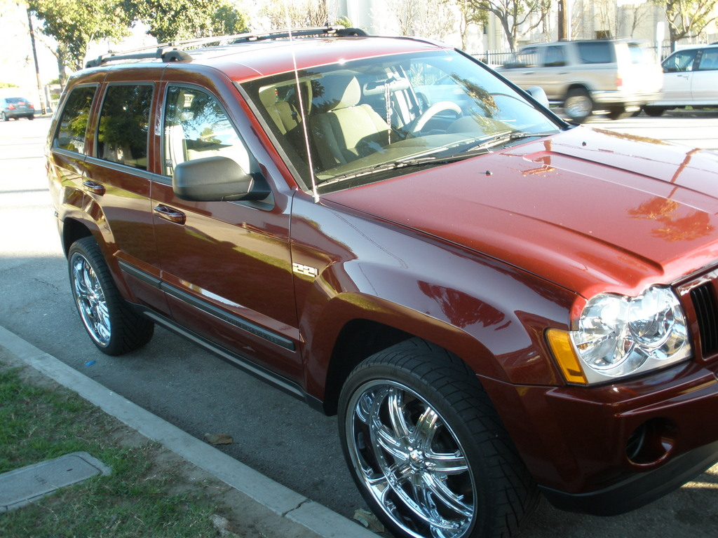 Jeep Grand Cherokee red #3