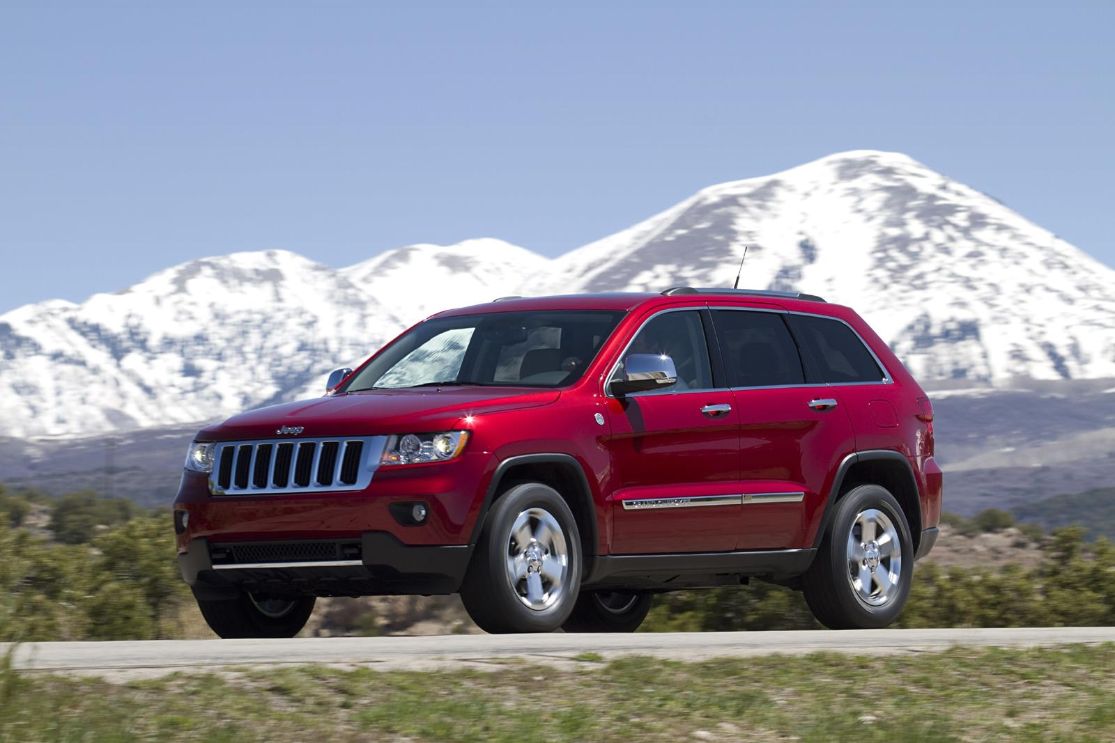 Jeep Grand Cherokee red #4
