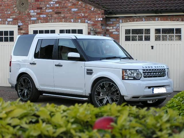 Land Rover Discovery white #1