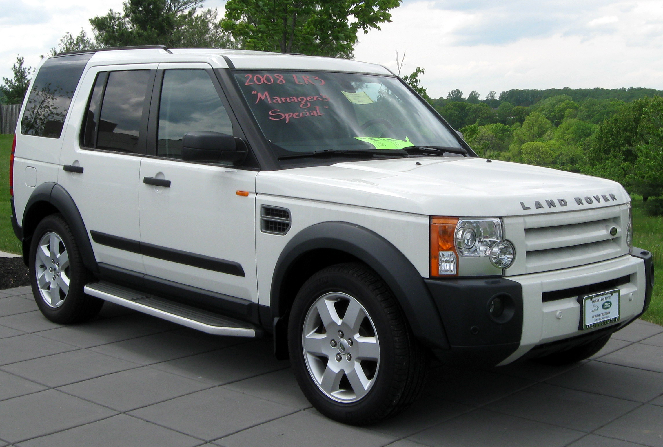 Land Rover LR3 white #4