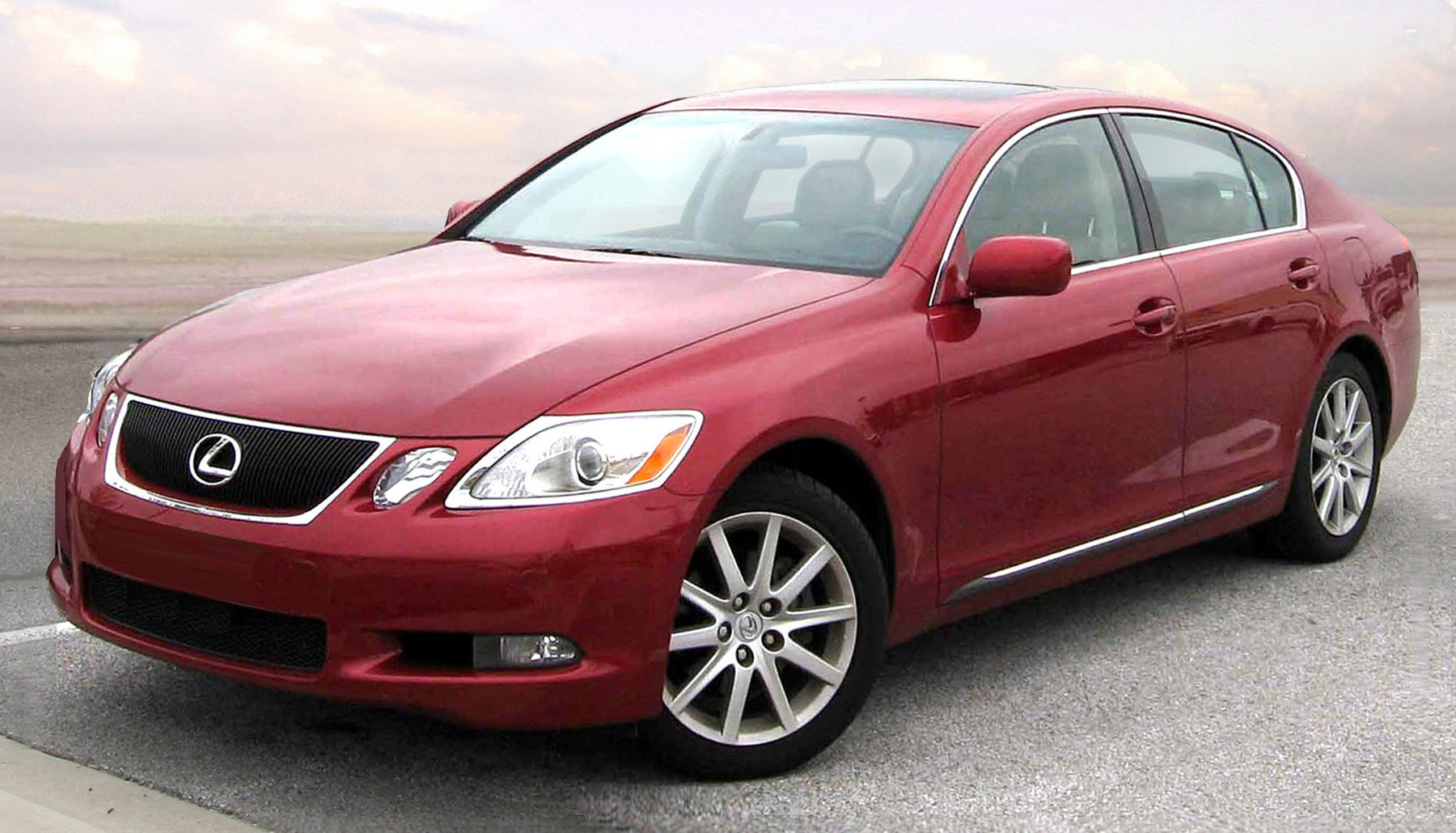 Lexus GS 350 red #3