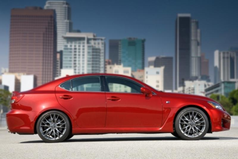 Lexus IS F red #1