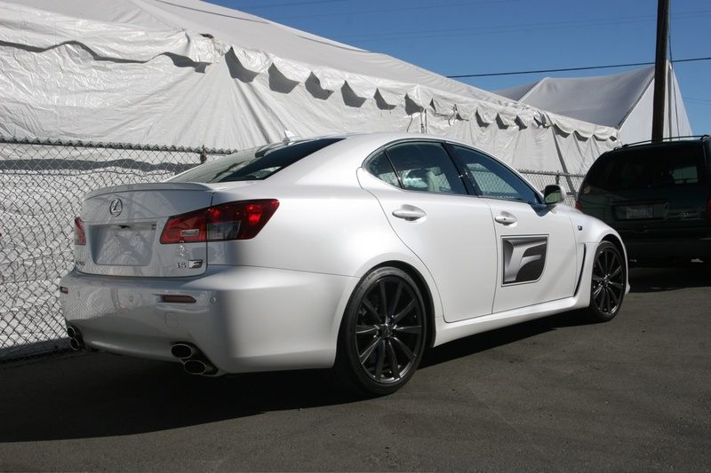 Lexus IS F white #2