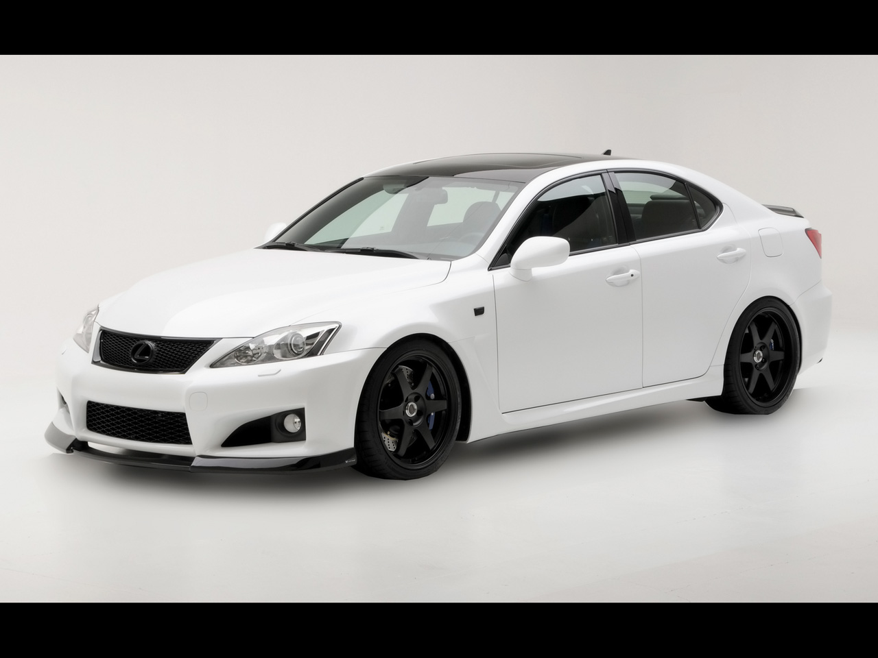 Lexus IS F white #1
