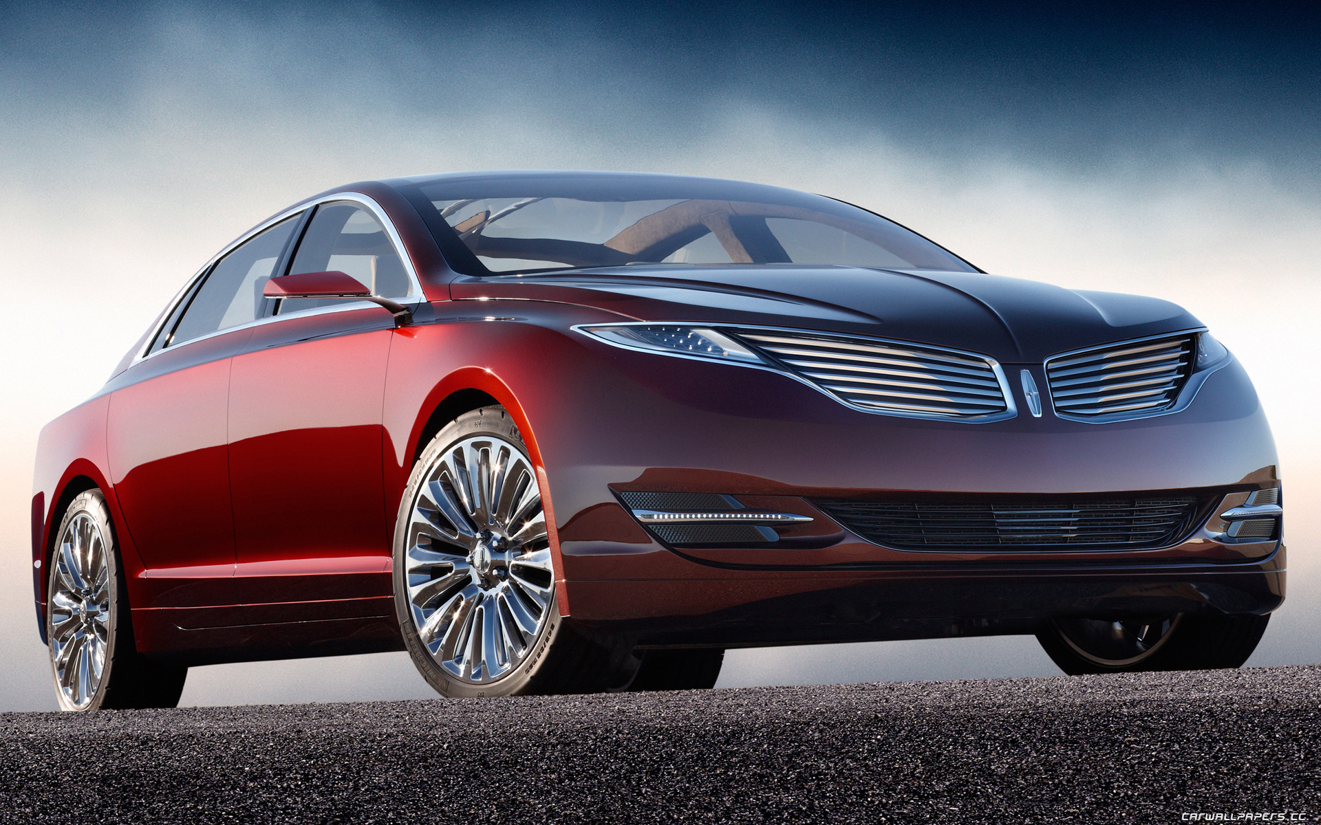Lincoln MKZ red #4