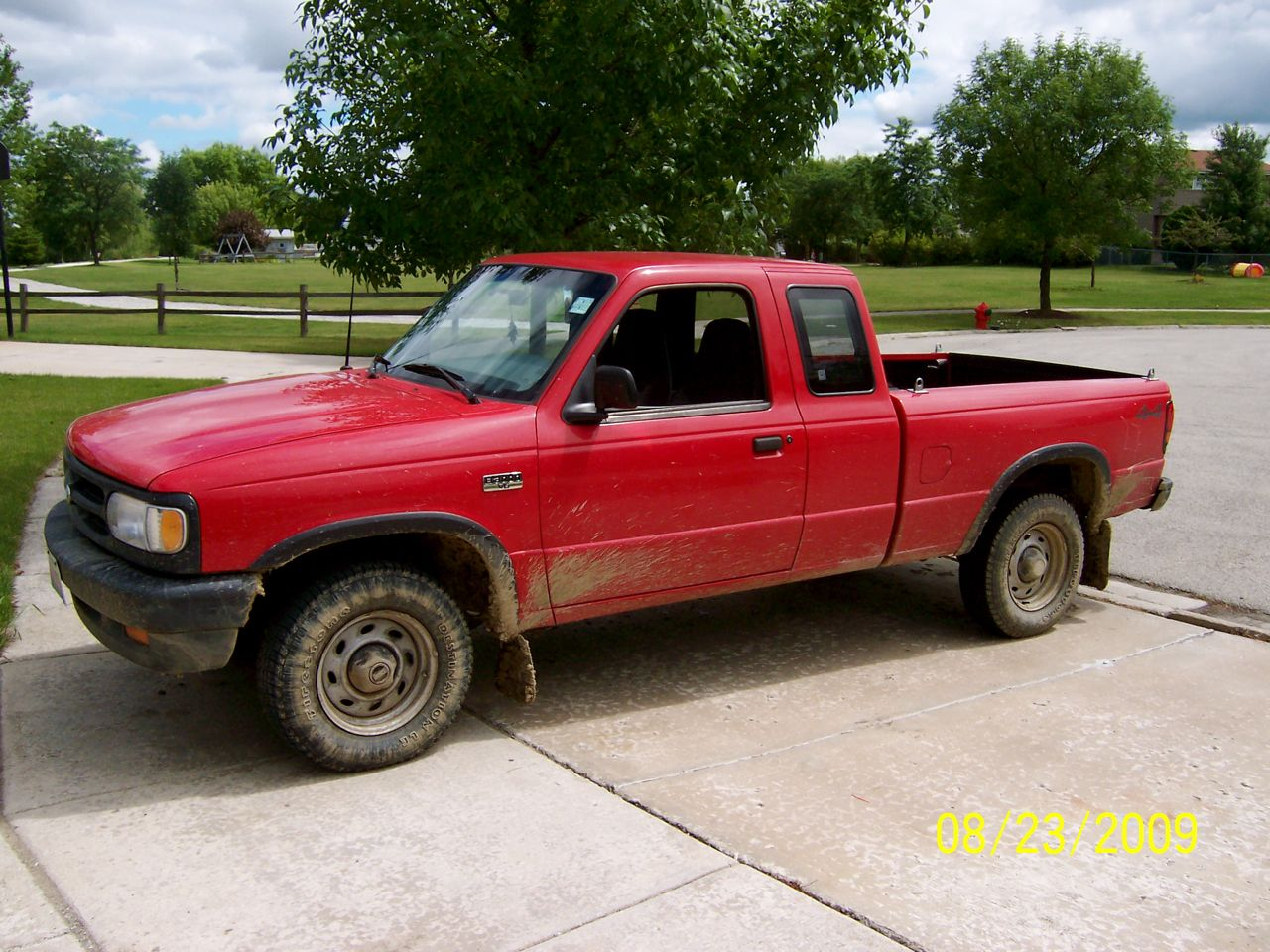 Mazda B-Series Pickup red #2