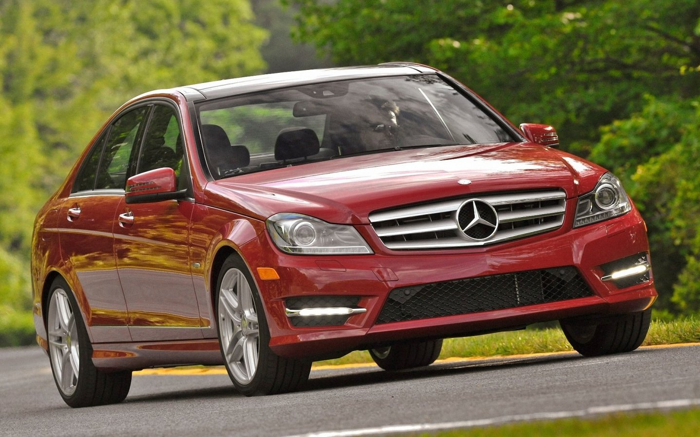 Mercedes-Benz C-Class red #1