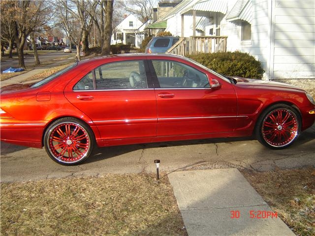 Mercedes-Benz S-Class red #3