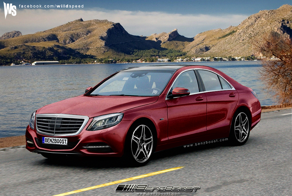 Mercedes-Benz S-Class red #1