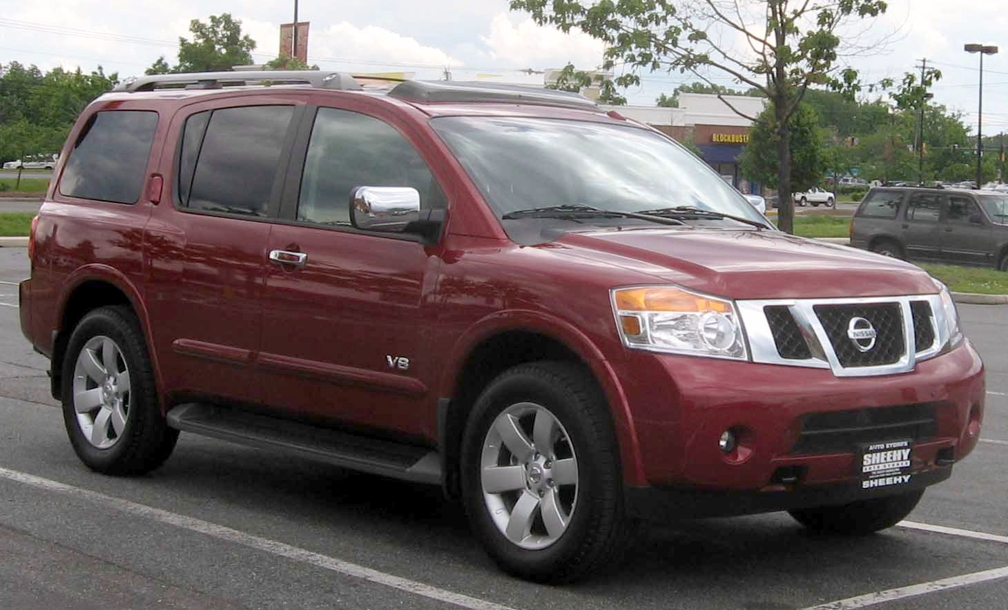 Nissan Armada red #1