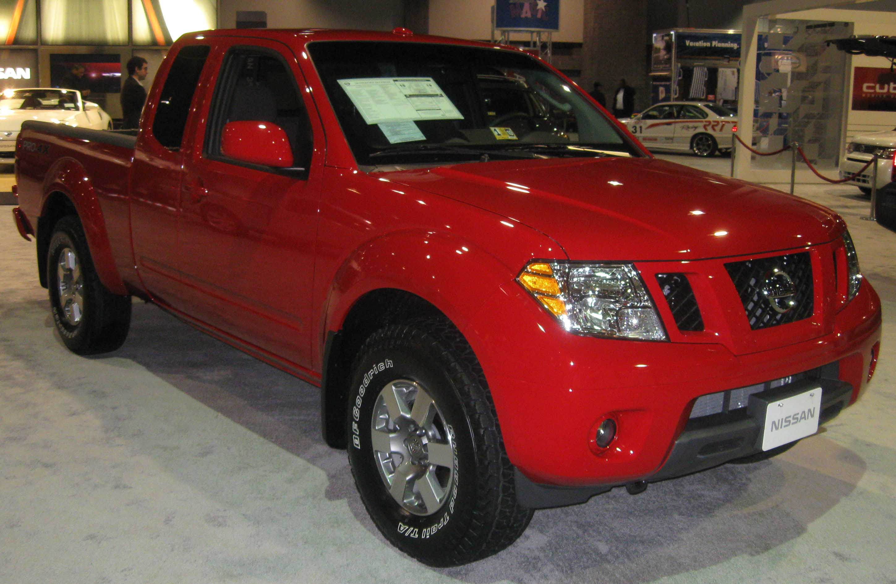 Nissan Frontier red #1