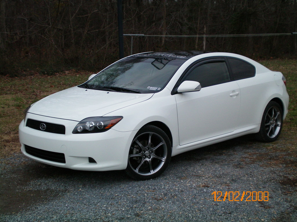 Scion tC white #1