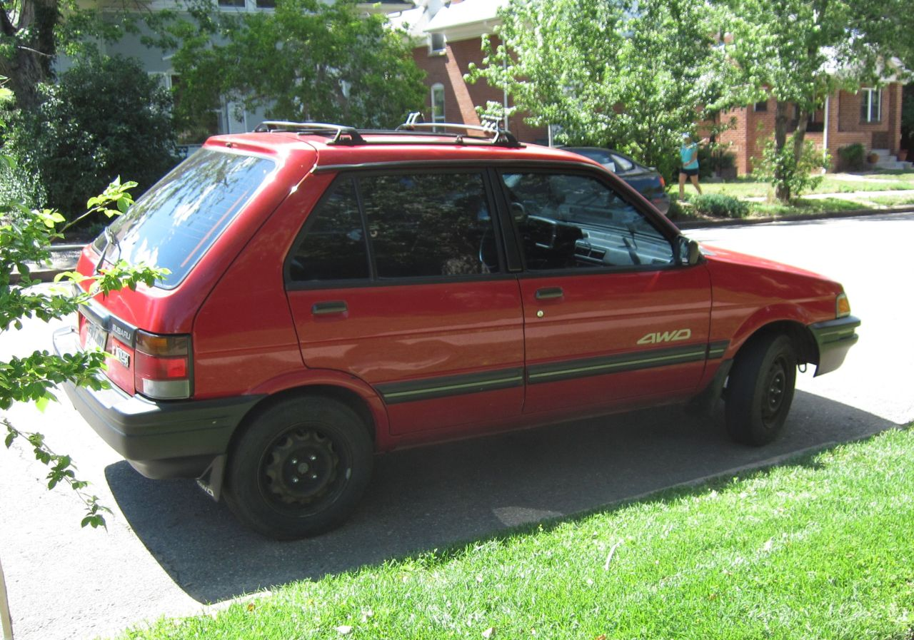 Subaru Justy red #3