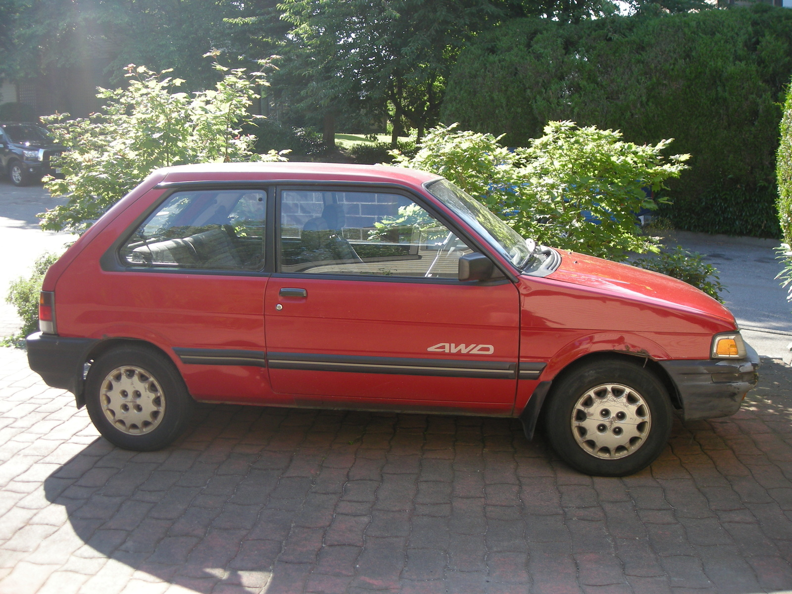 Subaru Justy red #4