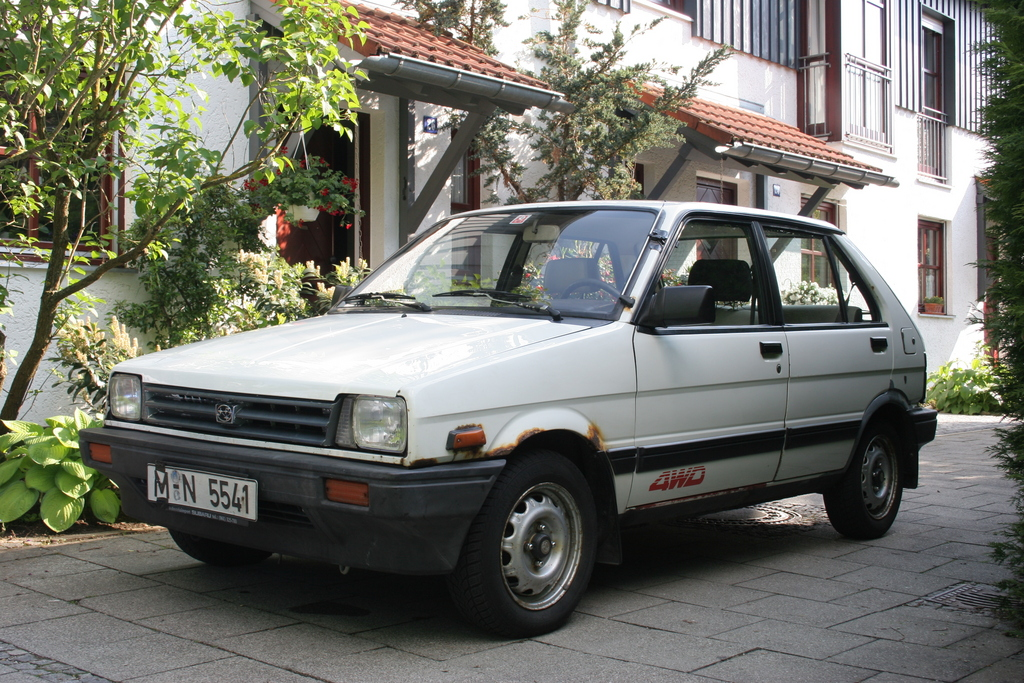 Subaru Justy white #2