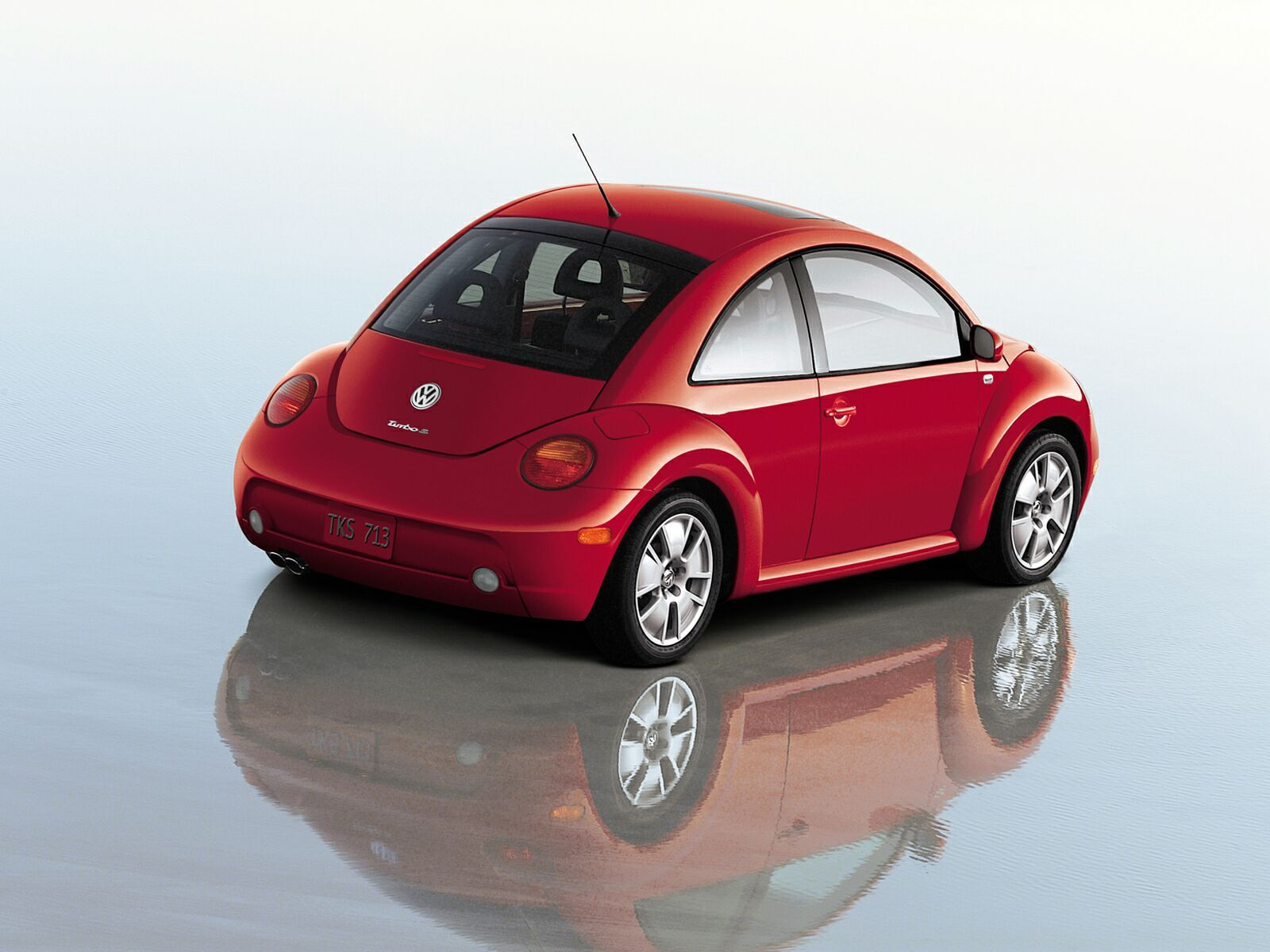 Volkswagen New Beetle red #3