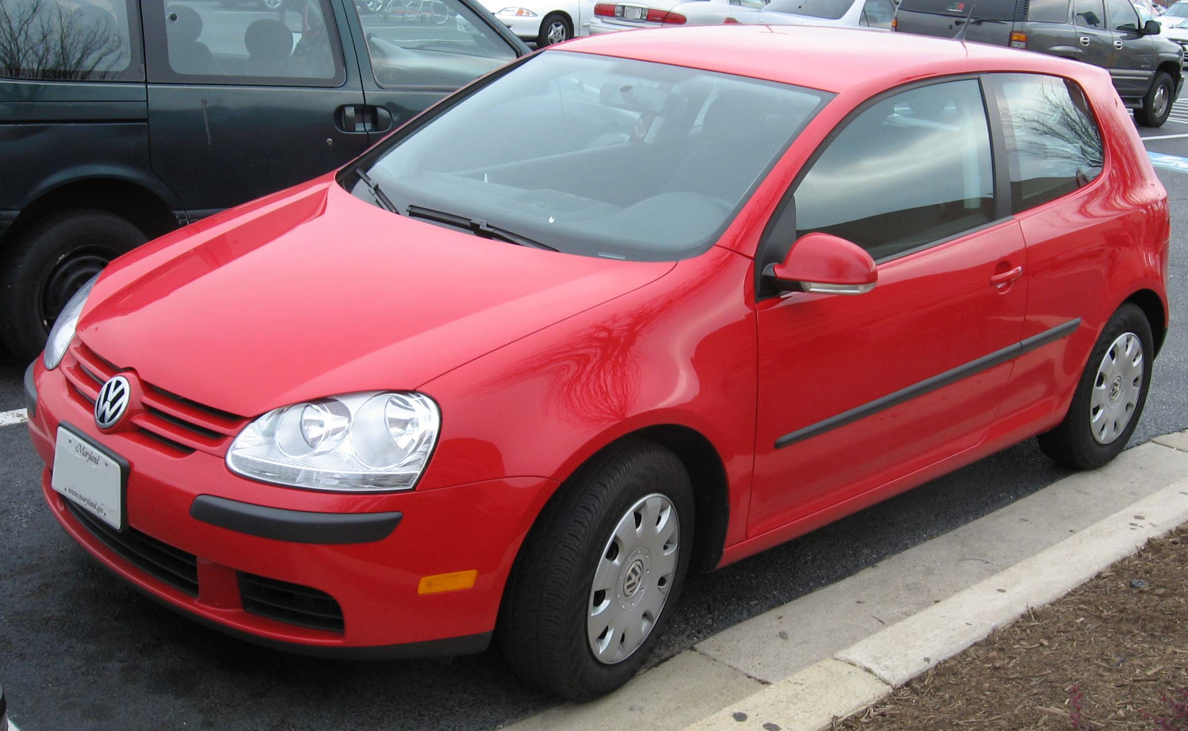 Volkswagen Rabbit red #4